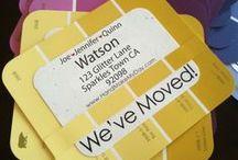Design | Moving Announcements / Design inspiration for moving announcements & housewarming parties