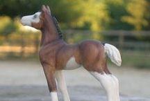 "Tiger Splash White Morgan Horse / Splash White Morgan Horse ""Tiger"" and a portrait mini model horse by Sarah Tregay"