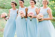 Stylish & Simple Bridesmaid Dresses / Colour schemes for weddings and your bridal party, great ideas for bridesmaids, dresses of all shapes and sizes and styles and ways to mix and match your loved ones.