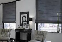 Roman Shades / Roman shades are a timeless and classic custom window treatments. With their ability to ensure privacy and sun control, our custom fabric shades are a chic and functional window covering option. When raised, roman shades become an elegant valance, adding a customized style to any window.  http://galaxydraperies.com/roman-shades/