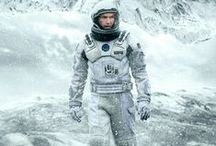 Interstellar / nterstellar is a 2014 epic science fiction film directed by Christopher Nolan, starring Matthew McConaughey, Anne Hathaway, Jessica Chastain and Michael Caine. The film features a crew of astronauts who travel through a wormhole in search of a new home for humanity. Brothers Christopher and Jonathan Nolan wrote the screenplay, which had as its origins a script Jonathan developed in 2007 . Christopher Nolan produced the film with his wife, Emma Thomas, and Lynda Obst.
