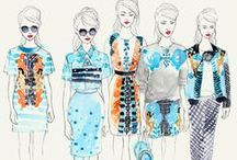 Illustrationer / Fashion, modeteckning,