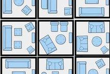 ERGONOMIA e MEDIDAS / Medidas base, soluções de ambientação, dicas de posicionamentos de decoração e moveis.
