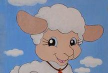 картинки овечек и коз / Картинки для творчества