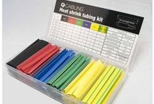 Heat Shrink Kits & Tubing / Our new Heat Shrink Kits are now in stock! http://goo.gl/PNRSbh This kit includes 96 pieces of 95mm long PVC tubing in a variety of diameters (from 2mm to 16mm) and are an easy solution for grouping cables together, joining cables, protecting them from abrasion and insulating. Just a few seconds with a heat-gun and you're in business. We also stock 1 meter lengths of the tubing, sold individually in a variety of colour and size combinations. 