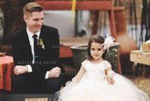 Flower Girl Dresses / Cute little girl in cute little dress, lead the bride to happiness.