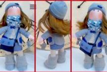Green Hill Dolls / Gorjuss and Tilda type dolls. Recycle dolls.