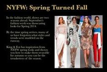 "NYFW: Spring Turned Fall / new King and Fox "" NYFW: Spring Turned Fall "" up now at www.facebook.com/kingandfox / by King & Fox Styling"