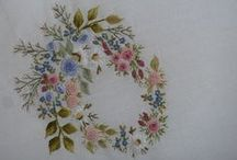 my hand embroidery /  mes broderies main / mes travaux de broderie