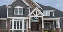 Home Exterior Inspiration / Here is a collaboration of jobs in our area that we have been able to help provide the stone and installation for.