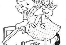 Desen / Desen, Nakış, Bebek,Kadın, İşleme