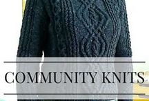 Community Knits / Check out all the beautiful knitting projects that people using Patty's patterns have made!
