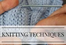 Knitting Techniques / No matter your skill level there are always techniques that will improve your knitting. Here I pin some that I like, as well as some of my own tutorials.