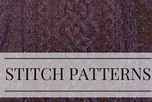 Stitch Patterns That Inspire / Stitch patterns for knitting and crochet that add texture to your designs.