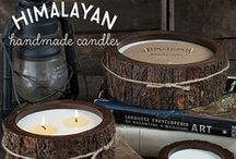 Himalayan Candles / Himalayan candles are exquisite hand made candles that are hand poured in small batches. Beautiful fragrances compliment the long burning soy wax blend and come in re usable artisan containers.