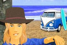 Scott Chevalier - aka the Campervan Bushman / Enter the world of Scott Chevalier - he's kinda like a young Crocodile Dundee with a campervan & surfboard.and is the star of my Campervan Bushman Mystery Series.