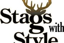 Stags with Style / These Stags with Style ornament collection show debonair stags out to impress with impeccable style. Produced by Border Fine Arts renown for finely detailed and skilfully painted resin figurines all produced in the Scottish Borders.