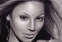 Portrety rysunek.   Drawings portraits