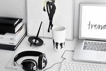 Home Office / home office, work from home, home decor, office decor / by Desire to Done | Entrepreneur & Business Tips