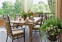 Outdoor Spaces / At Eric Ross Interiors, we love a great afternoon on the porch!  Good design in our OUTdoor rooms is equally as important as design in our INdoor rooms