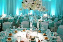 Tiffany blue and bronze wedding