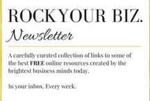 Rock Your Biz (for free!) / A carefully curated collection of links to some of the best FREE online resources created by the brightest business minds today!  In your inbox. Every week.  Sign up at www.mariacarras.com/subscribe