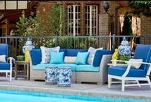 Trad Home Showhouse 2015 / In April 2015 the JL of High Point produced this amazing home chocked full of the south's most talented designers.  Eric Ross Interiors was delighted to participate, designing the Pool Area and Library terrace as featured in the October 2015 issue of the magazine.