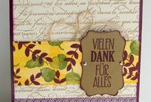 Fall Projects with Stampin' Up! / Stampin' Up! Karten und andere Projekte im Herbst / Fall Cards and Projects featuring Stampin' Up! Products
