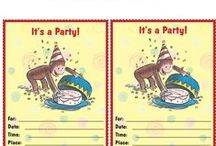 Free Birthday Printables! / Printable Curious George birthday invitations, thank you notes, place mats and more!