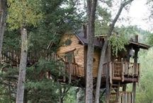 Tree Houses / What fun! Beautiful, imaginative, and the stuff of stories