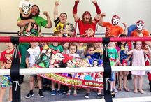 Wrestling Birthday Parties / The Super Wrestling Heroes Team offers Fun and excitement like you have never seen before!!! Where we will come in full wrestling gear to wherever you would like us too bringing all the necessities of any great party - cake smashes, tug of war contests - the works!!!