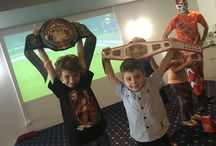 Our Little Champions / Meet our Super Wrestling Heroes Champions! Have you ever wanted to walk around as a Champion? Well, finally you can because our Super Wrestling Heroes Online Store now offers The Super Wrestling Heroes Championship Belt! Which will be personally engraved (up to 12 characters, including spaces)  Visit www.superwrestlingheroes.com.au/store and order yours today