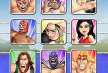 Super Wrestling Heroes: Digital Attack (FREE DOWNLOAD) / Oh No! Evil has struck your Super Wrestling Heroes & they have been turned digital! Now they need your help to battle it out with an all new villain from the digital world who goes by the name of El Virus. Join Benny Coles, Mighty Mel & the rest of the gang, in this easy to play arcade adventure of mini game madness & help them to protect our world from a digital invasion!  #new #game #appstore #apple #googleplay #prowrestling #cartoon #arcade #adventure #minigame
