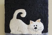 Cat (handmade) - macska - katz  - кошки - gato - мачка / by melinda munkai