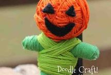 Orange is for Halloween crafts and projects / No Boring White collects handmade crafts, projects and ideas inspired by Halloween in this board.