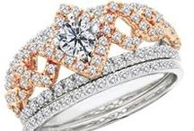 Glamorous Style Engagement Rings from Diamonds Rock / If the wearer wants to make a statement and have their ring dazzle, they might love a ring that the diamond sits up a bit higher, or one that has more of a diamond-pave look on the sides. Any detail that adds a more glamorous, overall larger look will apply. These rings could also feature two different metal colors, larger side stones, and halos around the center stone.