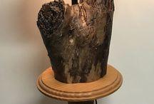 David moore / Log lamp