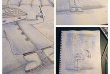 Tegning / egne krusseduller