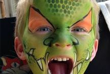 Face Painting Boys Designs 'On The Job' / These are 'On The Job' face painting designs for boys that we have created at events, promotions or parties.