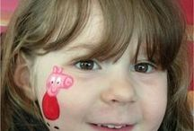 Our Cheek Art Designs / Little face painting designs for the arm or cheek