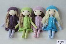 Dollisie / lale szmaciane handmade / handmade cloth dolls