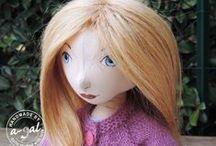Dollitki / lale szmaciane handmade / handmade cloth dolls