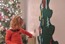 Felt Christmas Tree Ideas / Ideas for making a felt Christmas tree for children
