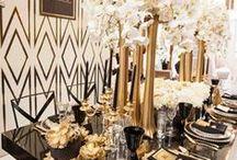 Black and Gold Weddings / Black and Gold Wedding Themes - Decor, Styling, Dresses, Makeup galore