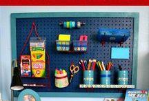 Art station for kids - wonderful ideas