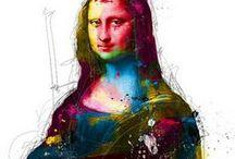 Самые известные рисунки и картины Леонардо да Винчи / Тут представлены наиболее знаменитые его работы