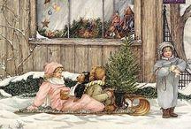 winter vintage/ kerstmis vintage