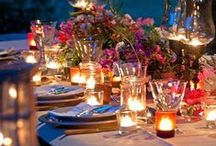 Outdoor Party , Buffets ,  Table settings .