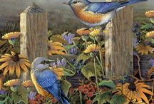 Posters en schilderijen van dieren  en bloemen