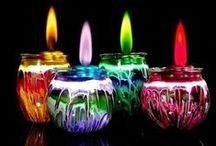 Bring some light into the darkness .. / Home made candles & crafts ...